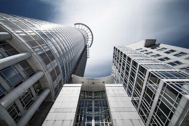 Germany, Hesse, Frankfurt, view to Westend tower from below, long exposure - WAF000023