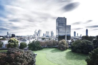 Germany, Hesse, Frankfurt, view to city, long exposure - WAF000029