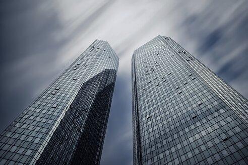 Germany, Hesse, Frankfurt, high-rise buildings of Deutsche Bank, long exposure - WAF000032