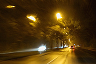 Driving by night at wintertime - NDF000411