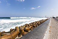 Maldives, Breakwater on Male Island - AM001449
