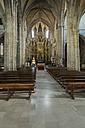 Spain, Aguilar de Campoo, Collegiate of San Miguel, interior view - LA000346