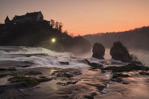 Switzeland, Schaffhausen, Rhine falls with Laufen Castle - ELF000724