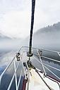 Canada, British Columbia, Khutzeymateen Valley, Khutzeymateen Provincial Park, sailing ship - FO005418