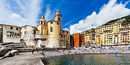 Italy, Liguria, Province of Genoa, Camogli, Church Santa Maria Assunta at lido - AM001534