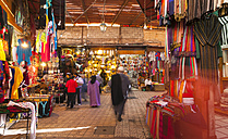 Morocco, Marrakech, view at souk - HSI000320