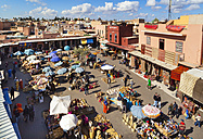 Morocco, Marrakech, view to spice market - HSI000321