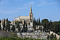 Malta, Zejtun, Church with typical graveyard - AMF001568