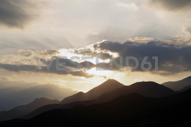Spain, Catalonia, Pyrenees at sunset - JMF000275