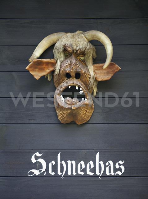 Switzerland, Bernese Oberland, Traditional Perchten mask - WW003135