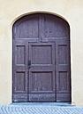 Switzerland, Poschiavo, Front door, close up - WWF002998
