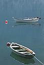 Switzerland, Le Prese, Fishing boats on Lake Poschiavo - WWF002911