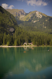 Italy, Trentino-Alto Adige, Alto Adige, Puster Valley, view of Lake Prags - MJF000479