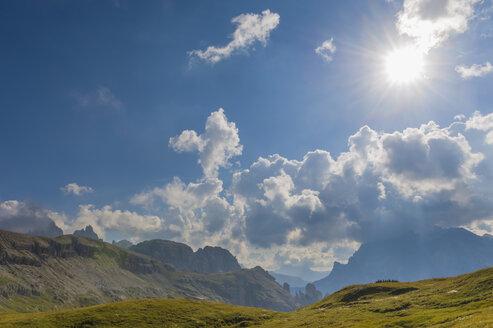 Italy, Province of Belluno, Veneto, Auronzo di Cadore, alpine meadow near Tre Cime di Lavaredo - MJF000483
