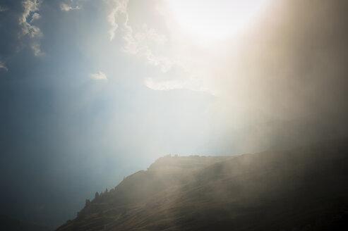 Italy, Province of Belluno, Veneto, Auronzo di Cadore, sunlight at Tre Cime di Lavaredo - MJF000491