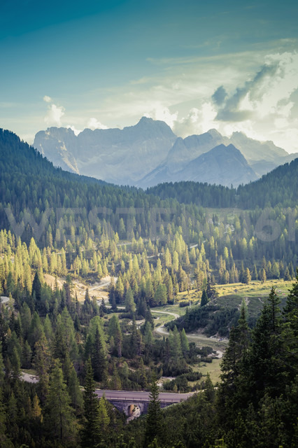 Italy, view to Dolomite Alps - MJF000475