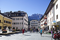 Italy, South Tyrol, Innichen, Old town with town square - WW003105