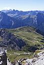 Italy, Trentino, Belluno, Pordoi Pass, View from Sass Pordoi - WWF003047