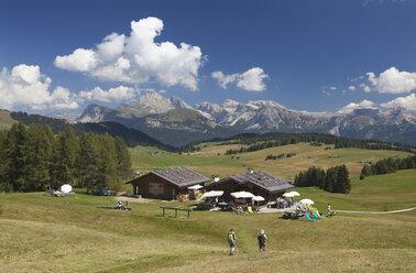 Italy, South Tyrol, Alpine cabin at Seiseralm - WW003071