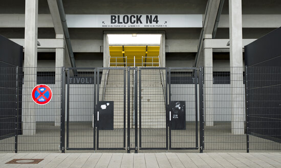 Germany, North Rhine-Westphalia, Aachen, football stadium Tivoli, entrance Block N 4 - HL000331