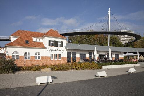 Germany, Mecklenburg-Western Pomerania, Rugia, Sassnitz, view to port railway station - WI000274