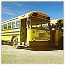 Old school bus in Watrous, Canada, Saskatchewan, Watrous - SE000107