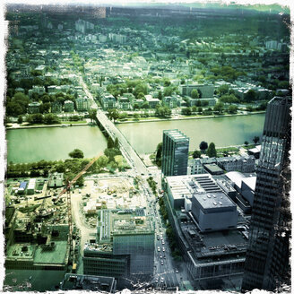 View from a highriser in Frankfurt on the river Main, Germany, Hesse, Frankfurt - SE000119