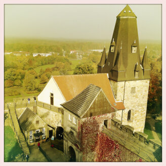 View on the tower of castle Bentheim, Germany, Lower Saxony, Bad Bentheim - SEF000129