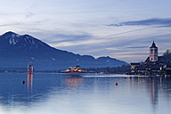 Austria, Salzburg State, Salzkammergut, St. Wolfgang at Lake Wolfgangsee. peace light, lantern - GFF000358
