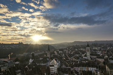 Switzerland, Canton of Schaffhausen, Schaffhausen, old town at evening mood - EL000776