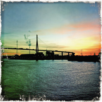 Koehlbrand bridge crossing the river Elbe, Germany, Hamburg - SEF000323