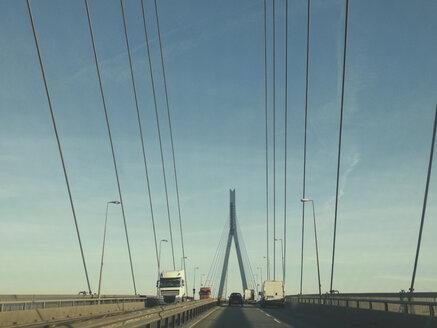 Driving over Koehlbrand bridge, Hamburg, Germany - SEF000377