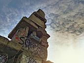 Stockpile Rheinelbe South, stairway to heaven, Industrial Heritage, Gelsenkirchen, Ruhr Area, North Rhine-Westphalia, Germany - ONF000254