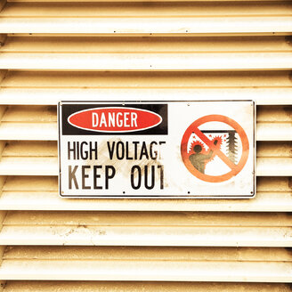 high voltage sign, Sydney, Australia - FBF000129