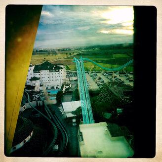 View from Ferris wheel Bellevue in the Europa Park near Rust, Baden-Wurttemberg, Germany - DHL000238