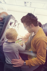 Father with son in airplane - MF000723