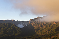 Spain, Canary Islands, La Palma, Caldera de Taburiente in the evening - SIEF004938