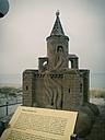 Baltic Sea, Mecklenburg-Vorpommern, Ruegen, Germany, pier, Binz, sand figure - MJF000520