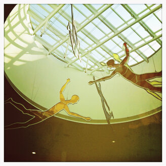 Floating figures, Montreal, Quebec Airport, Canada - SE000392