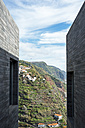 Portugal, Madeira, Calheta, art centre Casa das Mudas, vista between to facades - HL000362