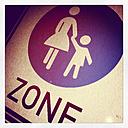 Road sign pedestrian zone, Neuwied, Rhineland-Palatinate, Germany - CSF020607
