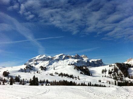 Alta Badia ski area, Sella mountain range, Dolomites, Italy - MABF000195