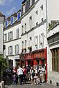 France, Paris, 18th arrondissement, Montmartre, view to Rue Norvins - LB000488