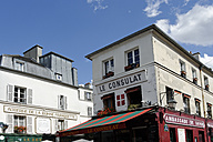 France, Paris, 18th arrondissement, Montmartre, view to Restaurant Le Consulat - LB000480