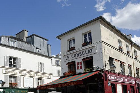 France, Paris, 18th arrondissement, Montmartre, view to Restaurant Le Consulat - LB000480