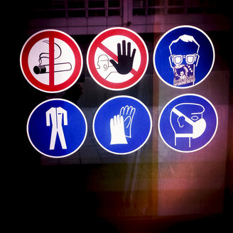 Prohibitions, symbols, stickers, Munich, Bavaria, Germany - GSF000643