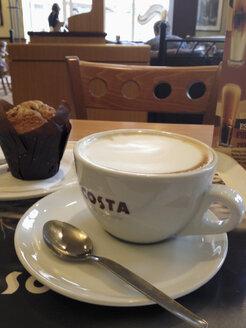Cup of cappuccino in Riga, Latvia - SE000403