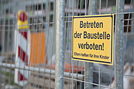 Sign on a construction site - CRF002560
