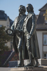 Germany, Thuringia, Weimar, Goethe-Schiller Monument - HWOF000086