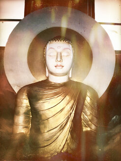 Buddha Statue, Temple of the Tooth, Kandy, Sri Lanka - DR000392